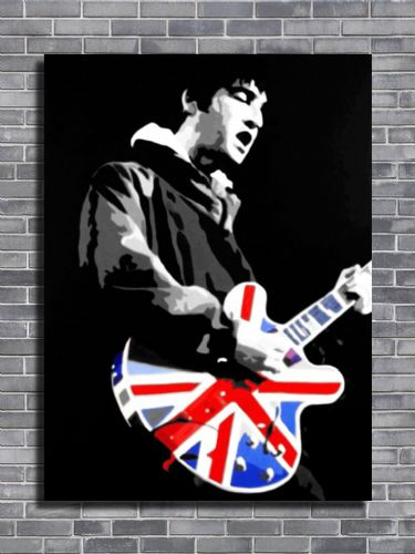 Oasis - Noel Gallagher bw canvas print - self adhesive poster - photo print